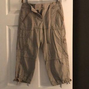 Loft capri length cargo pants.